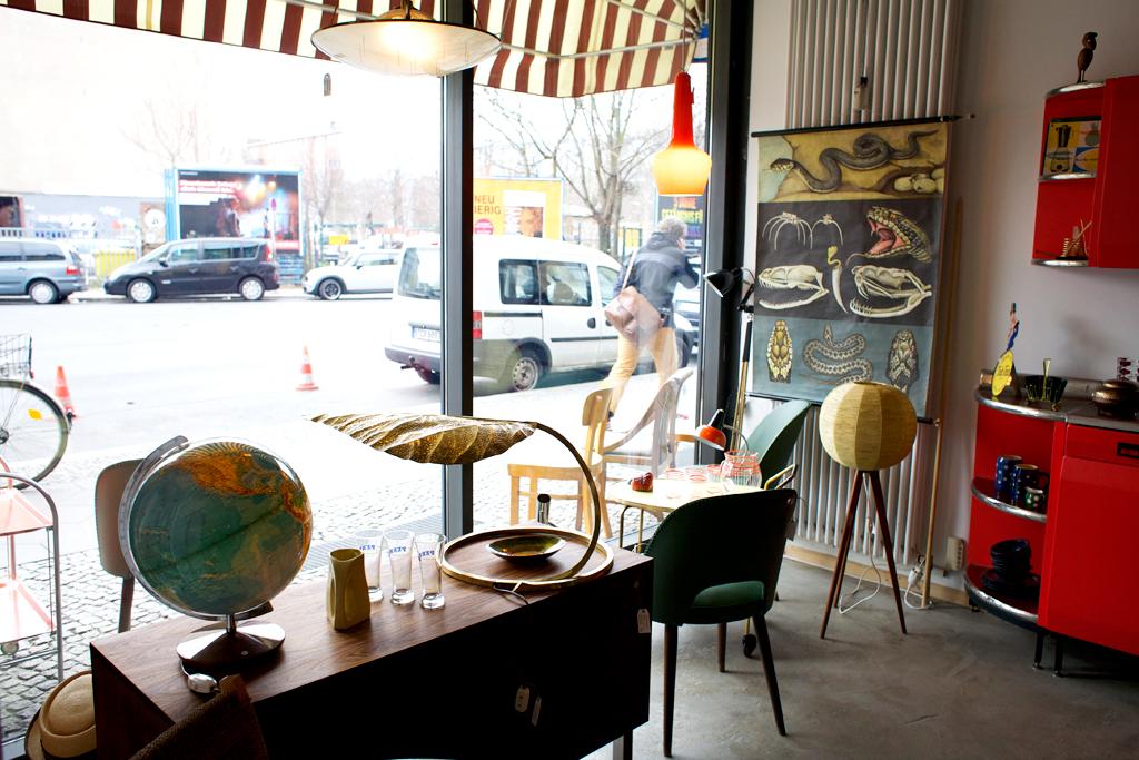 Vintagebutik i Kreuzberg Berlin